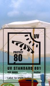 Label UV Standard 801 tentes