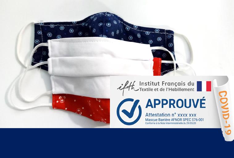 Masques textiles: votre nouvelle étiquette «COVID-19-Approuvé par IFTH»