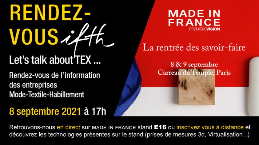 Rendez-vous en direct du salon Made in France by PV ! – RDV IFTH 8 septembre 2021 /17h (online)