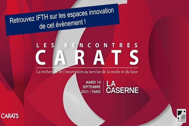 IFTH participe à la prochaine édition des Rencontres CARATS -14/09/21