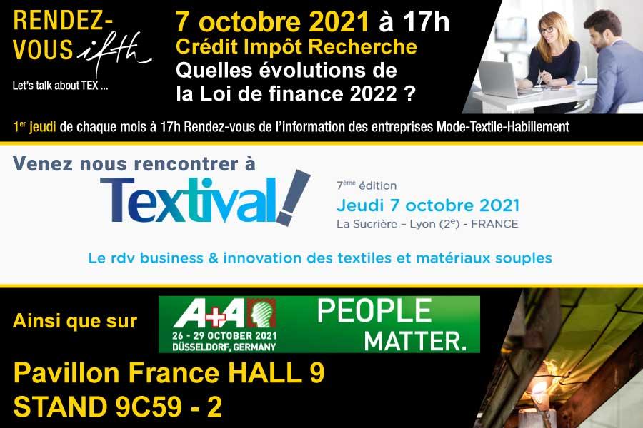 Agenda IFTH d'octobre !