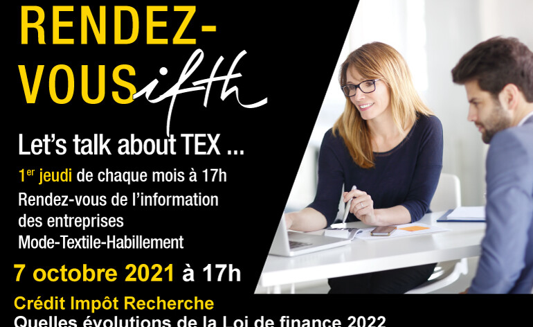 Crédit Impôt Recherche (CIR) : quelles évolutions de la Loi de finance 2022 ?- RDV IFTH Jeudi 7 octobre 2021 /17h (online)